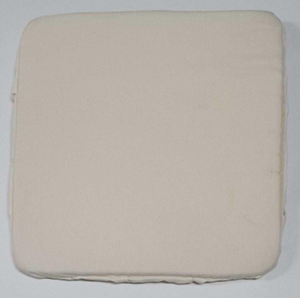 Cuscino Coprisedia Con Elastico Bianco