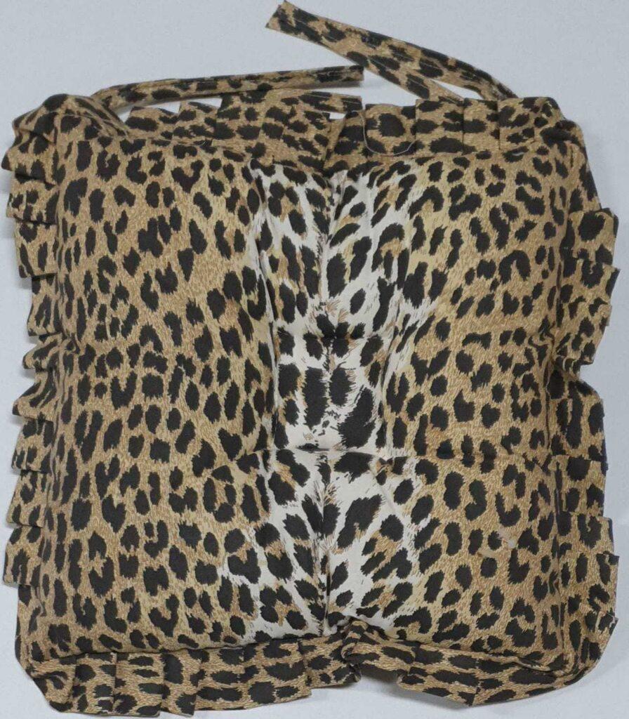 Cuscino Sedia Leopardato