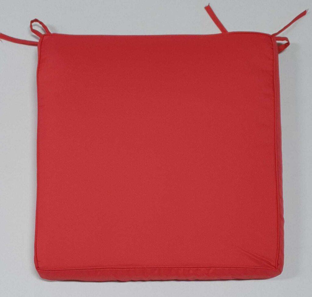Cuscino Sedia Rosso Corallo