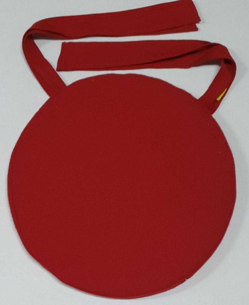 Cuscino Sedia Rotondo Rosso